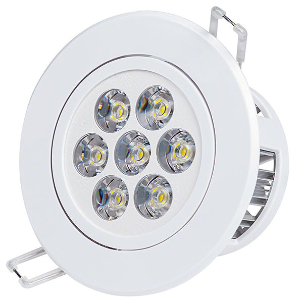 7 Watt Dimmable Recessed LED Lighting Fixture, White Trim, Warm White