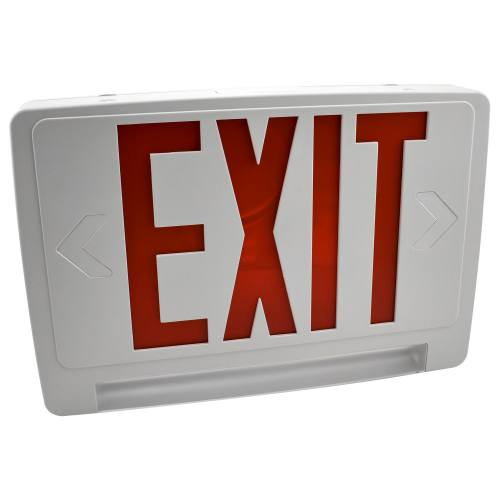 LIGHTPIPE LED EXIT SIGN, EMERGENCY LIGHT, SINGLE FACE, BATTERY BACKUP, UL