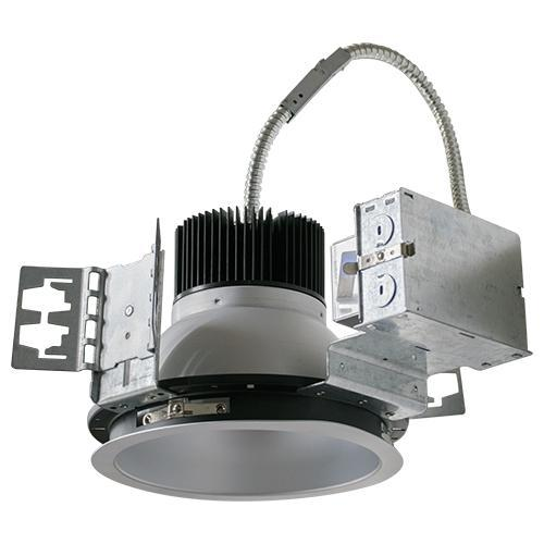 8 INCH ARCHITECTURAL LED RECESSED DOWNLIGHT KIT, COMMERCIAL GRADE, REFLECTOR TRIM AND FRAME, UL, ENERGY STAR