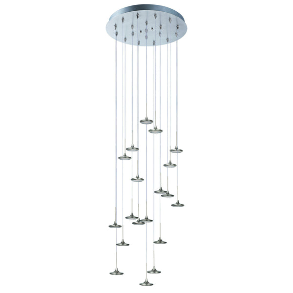 Disc 19-Light LED Pendant