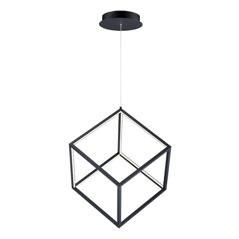 4 Square 1-Light LED Pendant