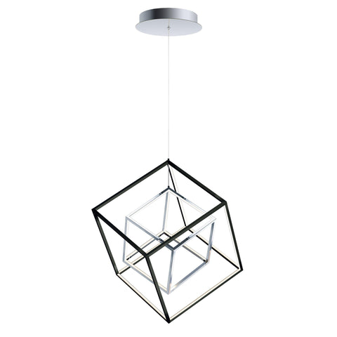 4 Square 2-Light LED Pendant