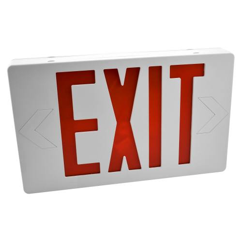 Easy Mount LED Exit Sign, Emergency Light, Double Face, Remote Capable, UL