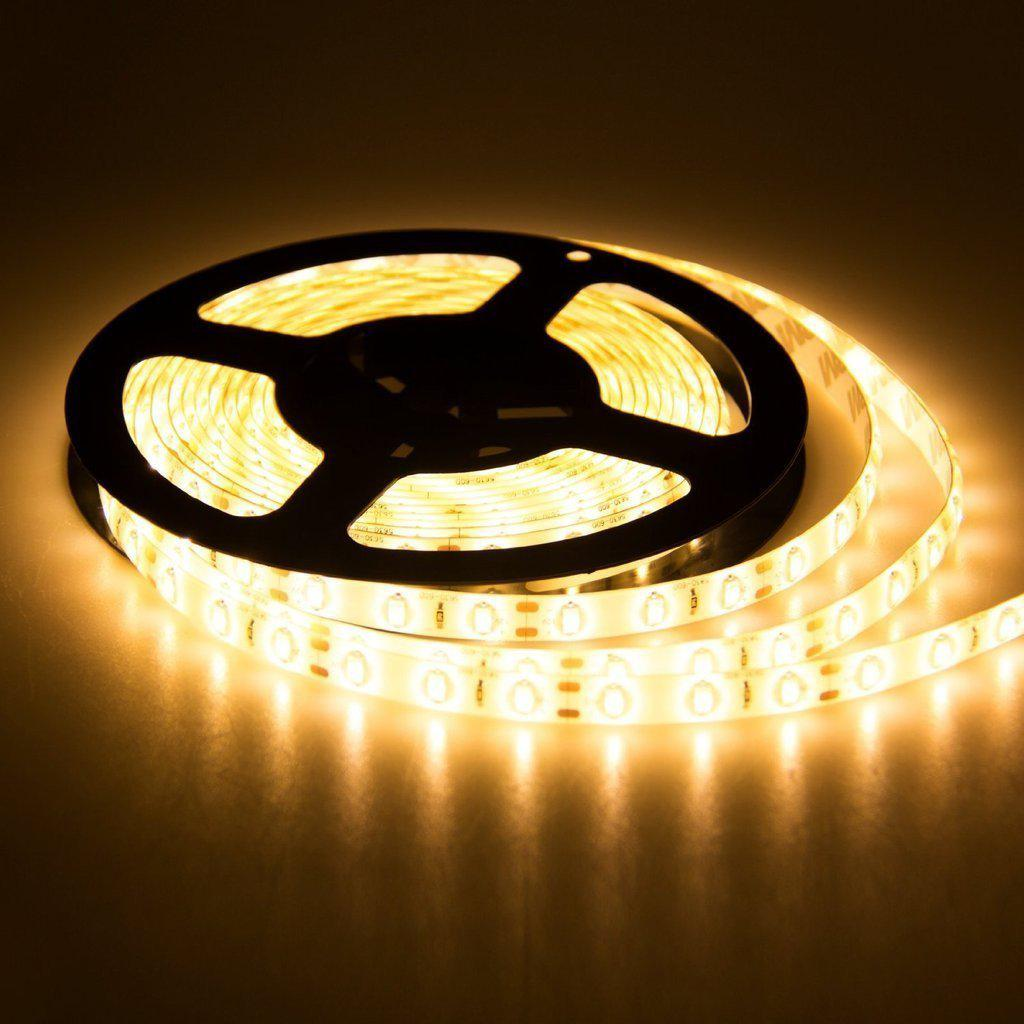 SMD 5050 60LED/M Waterproof Led Flexible Strip, Warm White 16.4FT/5M