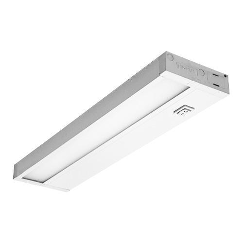 Dimmable Hardwired Under Cabinet LED Lighting, Linkable, UL Listed, Edge lit Technology, Warm White(2700k), White Finished (14 Inch)