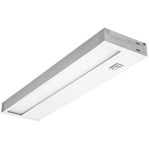 Dimmable Hardwired Under Cabinet LED Lighting, Linkable, UL Listed, Edge lit Technology, Warm White(2700k), White Finished (18 Inch)
