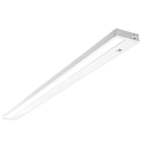 free shipping 372dc bebbc Dimmable Hardwired Under Cabinet LED Lighting, Linkable, UL Listed, Edge  lit Technology, Warm White(2700k), White Finished (48 Inch)