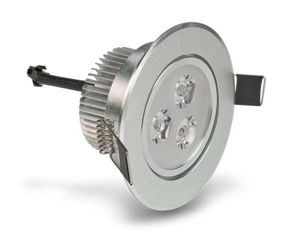 LEDQuant 3 Watt Dimmable Recessed LED Lighting Fixture, Recessed Downlight