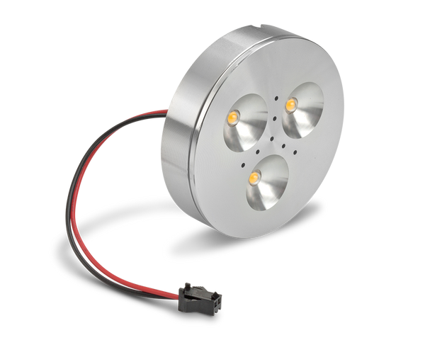 LEDQuant 3 Watt Dimmable Under Cabinet LED Light with Driver, Puck Light