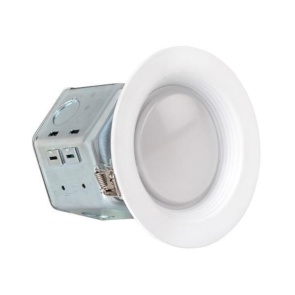 LEDQuant 4 Inch Junction Box LED Downlight, 10W (60W Equivalent) ENERGY STAR 700 Lumens Wet Rated Recessed Ceiling Light 120V No Can Needed ETL Listed
