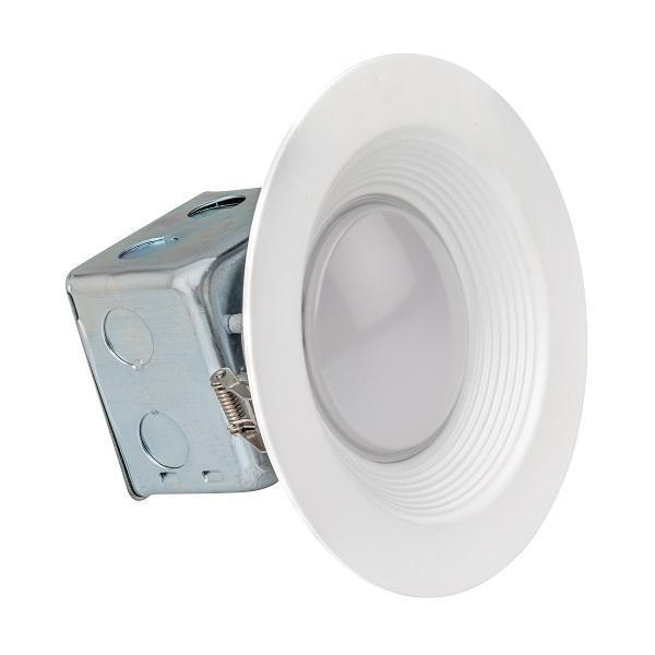 LEDQuant 5/6 Inch Junction Box LED Downlight 15W (100W Equivalent) ENERGY STAR 750 Lumens Wet Rated Recessed Ceiling Light 120V No-Can ETL Listed