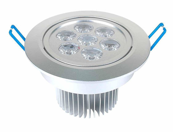 Dimmable 7W Recessed LED Lighting Fixture, Recessed Downlight, Warm White