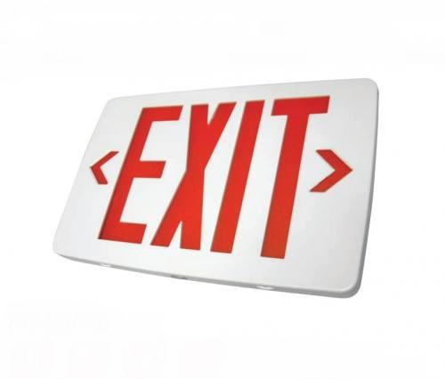 Ultra Thin LED Exit Sign, Emergency Light, Single Face, White Housing, UL