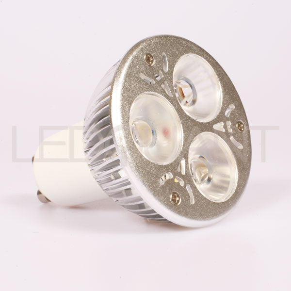 LEDQuant Dimmable GU10 6W LED Bulb, 50W Halogen Bulb Replacement, Warm White, Energy Efficient