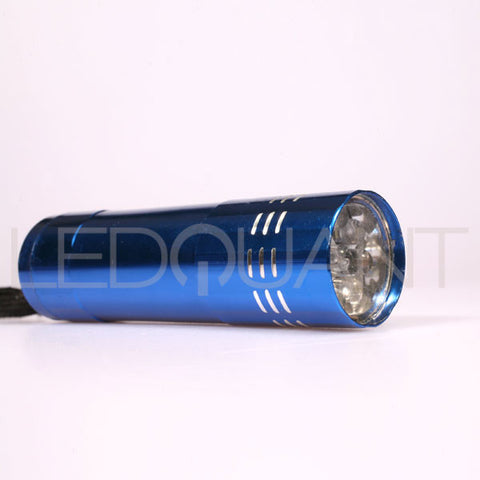 LEDQuant Compact Aluminum LED Flashlights, 9 LED