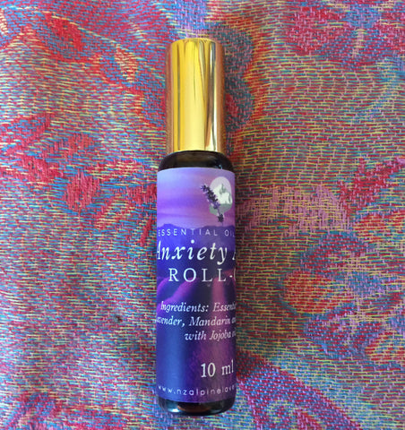 Essential oil blends roll on applocator  10ml      Anxiety Away