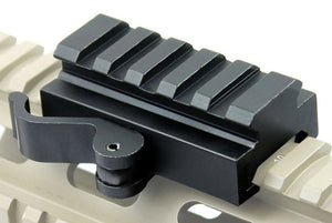 5 Slot QD Lever Lock Picatinny Rail Adapter Low Profile Mount - Mallard Armory