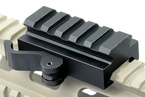 5 Slot Low Profile Picatinny Quick Release Riser Mount - Mallard Armory