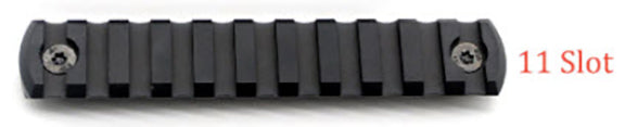 11 Slot M-LOK Aluminum Rail (Black)