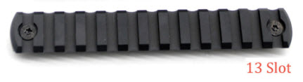 13 Slot M-LOK Aluminum Rail (Black)