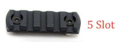 5 Slot M-LOK Aluminum Rail (Black)