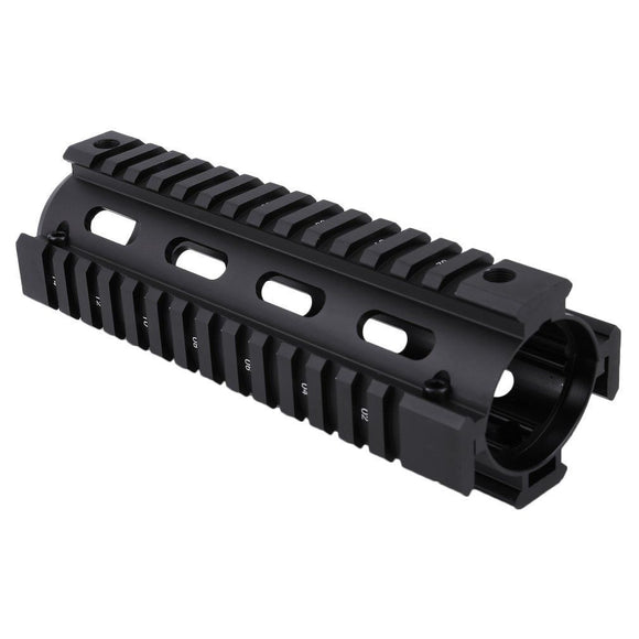 6.7 inch Handguard Carbine Length Quad Drop-in 2-Piece (Black) - Mallard Armory