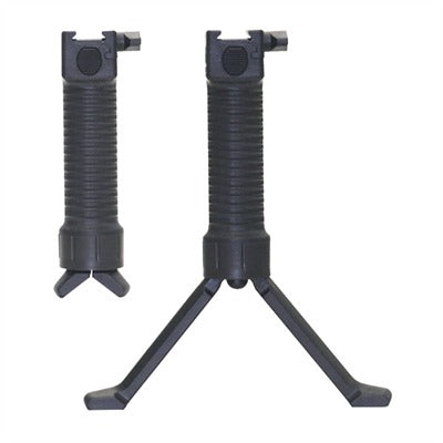 Military Vertical Grip with Quick Deploy Bipod - Mallard Armory