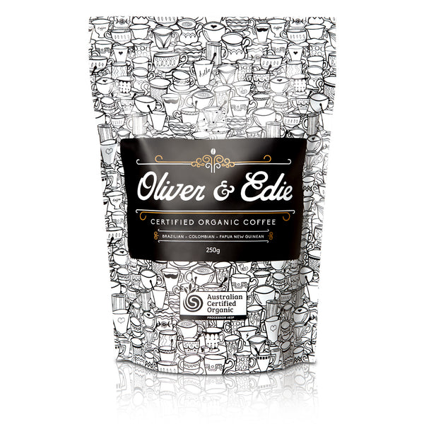 Oliver and Edie Certified Organic Roasted Beans (250g)