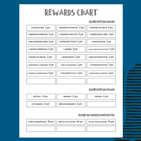 TFCF | REWARDS CHORE CHART