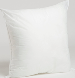 Foamily Premium Hypoallergenic Square Pillow Insert 18 in. x 18 in., Standard/White