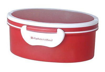 Mulberry by Genmert Oval Bento Box with Handles Rust Red
