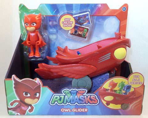 Disney Jr. PJ Masks Owlette Owl Glider Flyer Vehicle with Figure