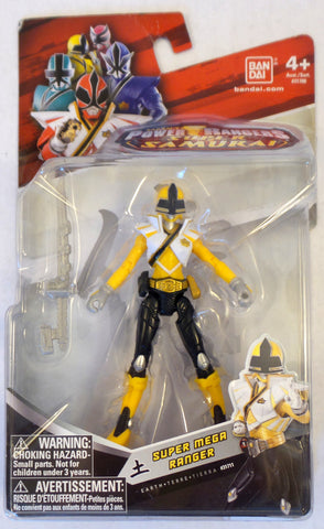 Power Rangers Super Samurai Super Mega Ranger 4in. Action Figure Earth Yellow