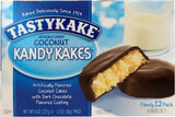 Tastykake Coconut Dark Chocolate Kandy Kakes, 8 oz, Family Pack of 12 Snack Cakes