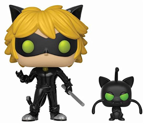 Funko Pop! Miraculous Ladybug Black Cat Chat Noir with Plagg Figurine