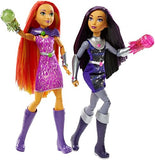 DC Super Hero Girls Blackfire and Starfire Intergalactic Sisters Fashion Doll Set