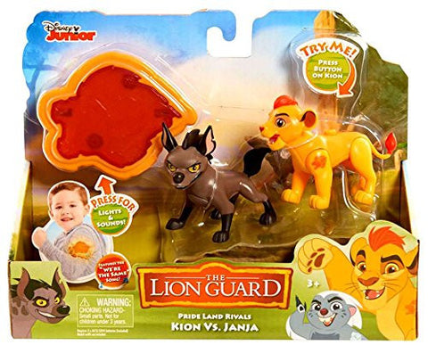 Disney Jr. The Lion Guard Pride Land Rivals - Kion Vs. Janja Figure Set