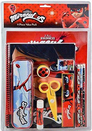 Miraculous Ladybug 11 Piece School Supply Stationery Value Pack Set