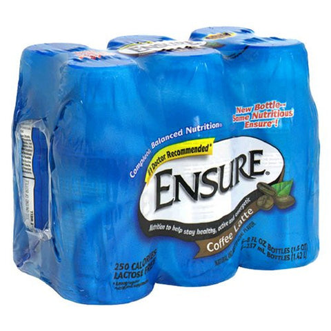 Ensure Balanced Nutrition Drink  8 oz., 6 Count - Coffee Latte