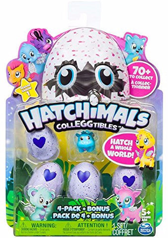 Hatchimals CollEGGtibles Collectible Animal Figurines - Season 1 4-Pack & Bonus