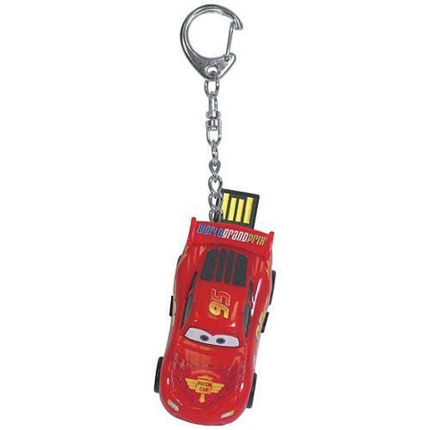 Sakar Disney Pixar Cars Lightning McQueen 2GB USB Flash Drive Mac/PC Key Chain