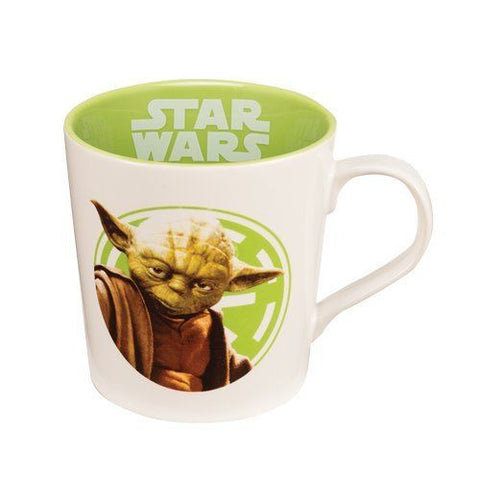 "Vandor 99761 Star Wars Yoda ""Use The Force"" Green and White 12-Ounce Ceramic Mug"
