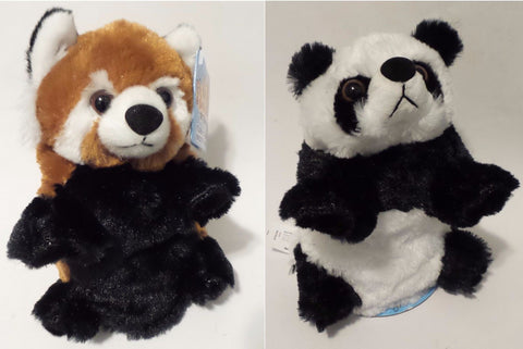 Wild Republic Switch A Rooz Reversible Plush - Panda Bear Kung and Red Panda Pao