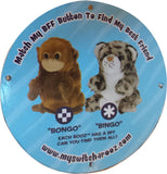 Wild Republic Switch A Rooz Reversible Plush Bongo the Orangutan and Bingo the Snow Leopard