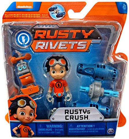 Rusty Rivets Rusty & Crush Action Figure Mini Build Set