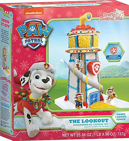 Paw Patrol Gingerbread House Watchtower Cookie Kit