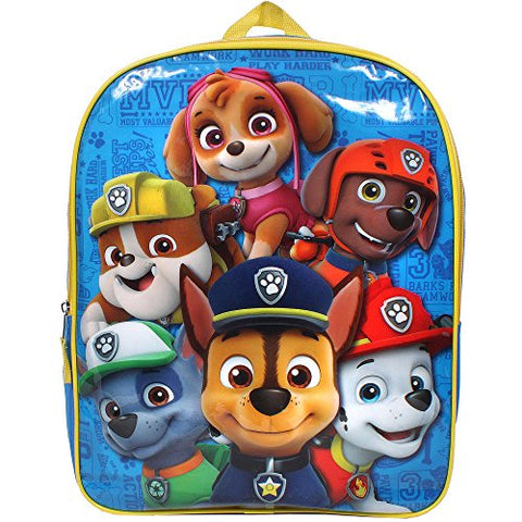 Paw Patrol Here to Help 15 in. Single Pocket Backpack Bookbag