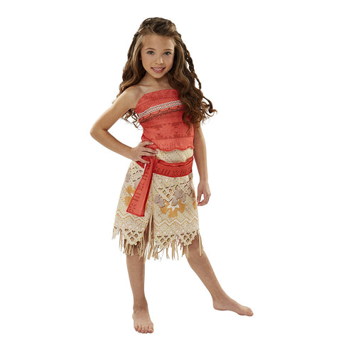 Disney Moana Girls Adventure Outfit Dress Costume