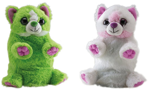 Wild Republic Switch A Rooz 7in. Reversible Plush Cat Sugar and Spice