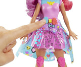 Barbie Video Game Hero Bella Fashion Doll with Skates and Light up Matching Game Dress